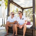 Guests Pose for a Portrait on a Cabana